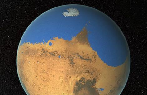 Wasserverlust auf dem Mars
