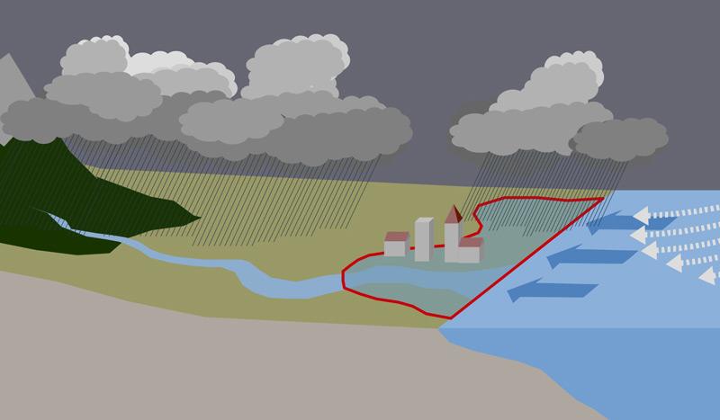 Steigende Hochwassergefahr